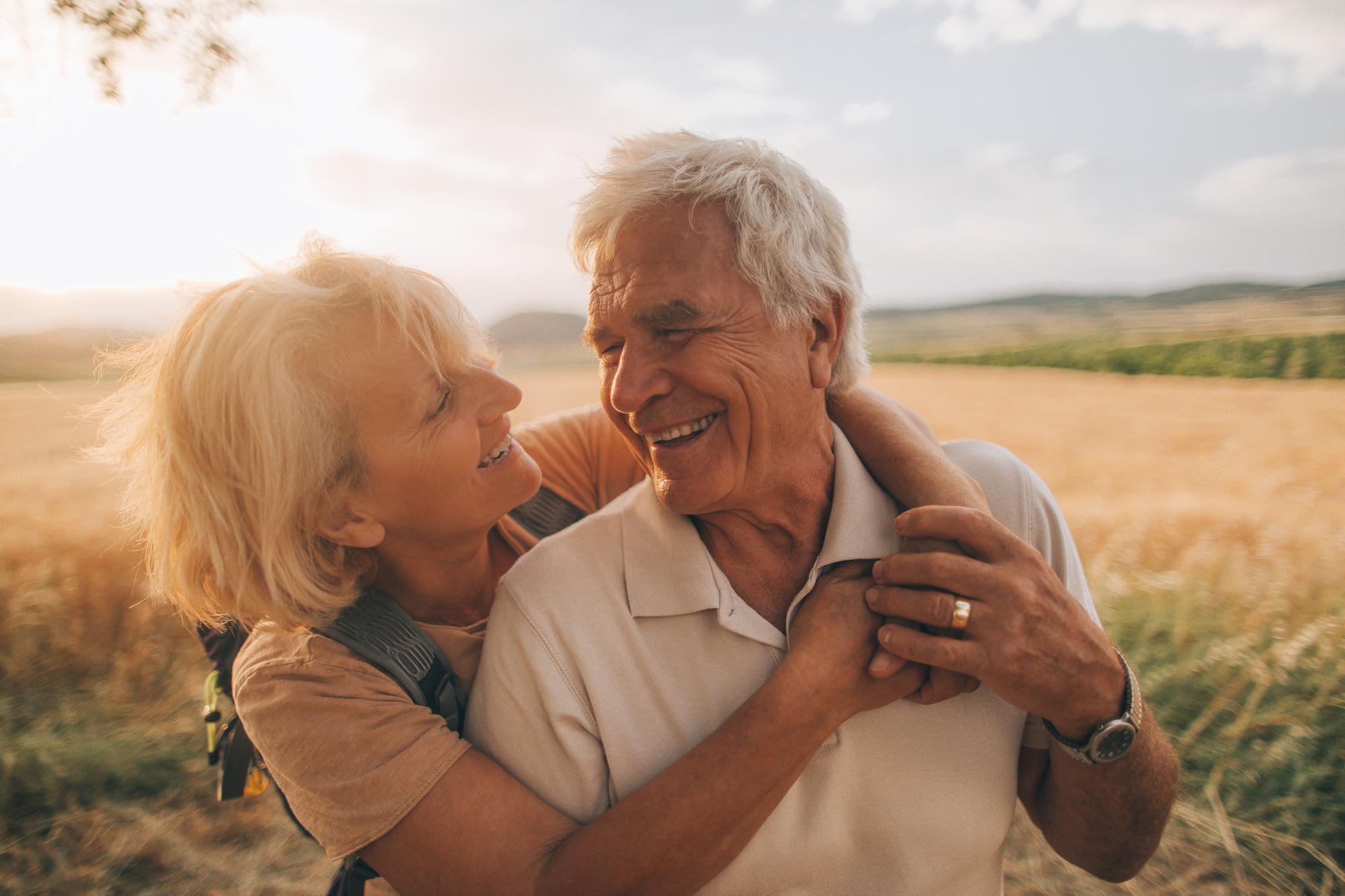 الحب عند كبار السن