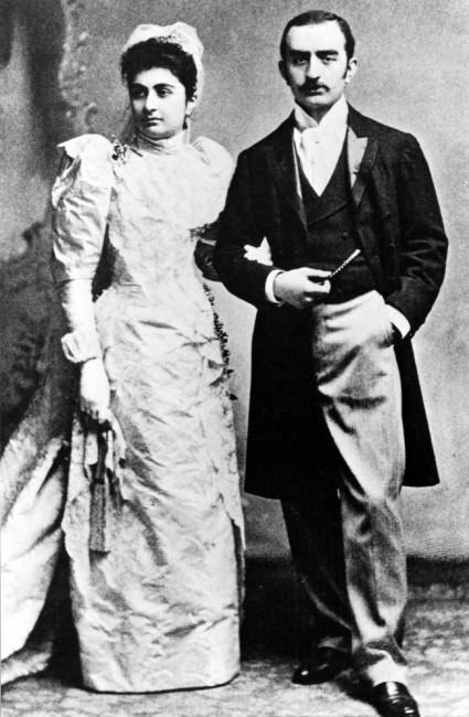 كالوست كولبنكيان وزوجته