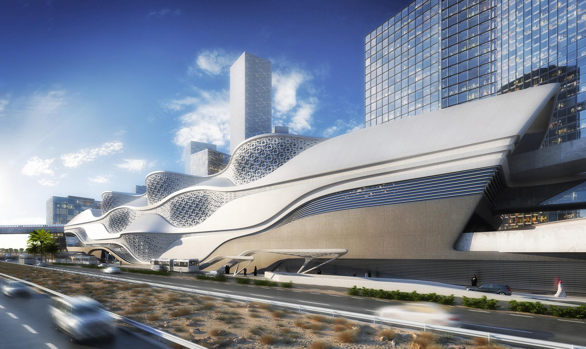 محطة مترو الرياض التي صممتها زها حديد