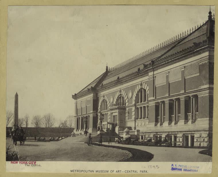 المسلة المصرية منصوبة أمام متحف المتروبوليتيان.