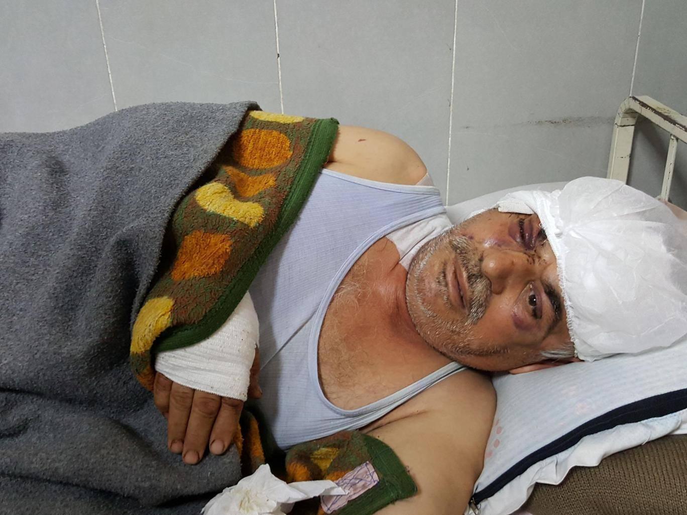 محمد حسين 58 عامًا مستشفى عفرين العام. مصدر الصورة: الإندبندنت