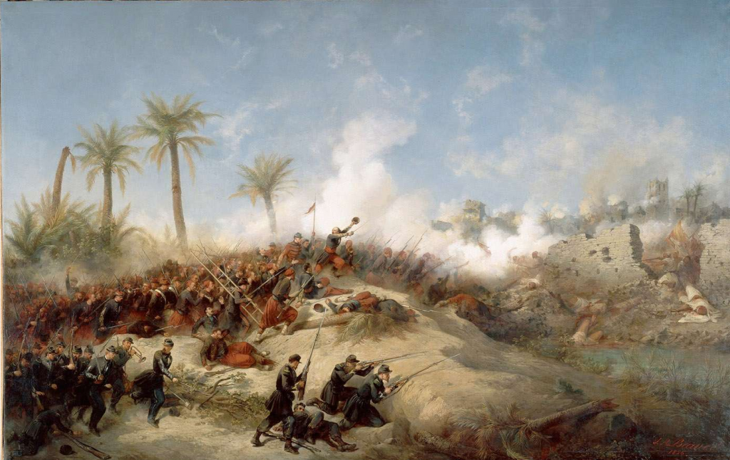 لوحة لحصار الزعطاشة