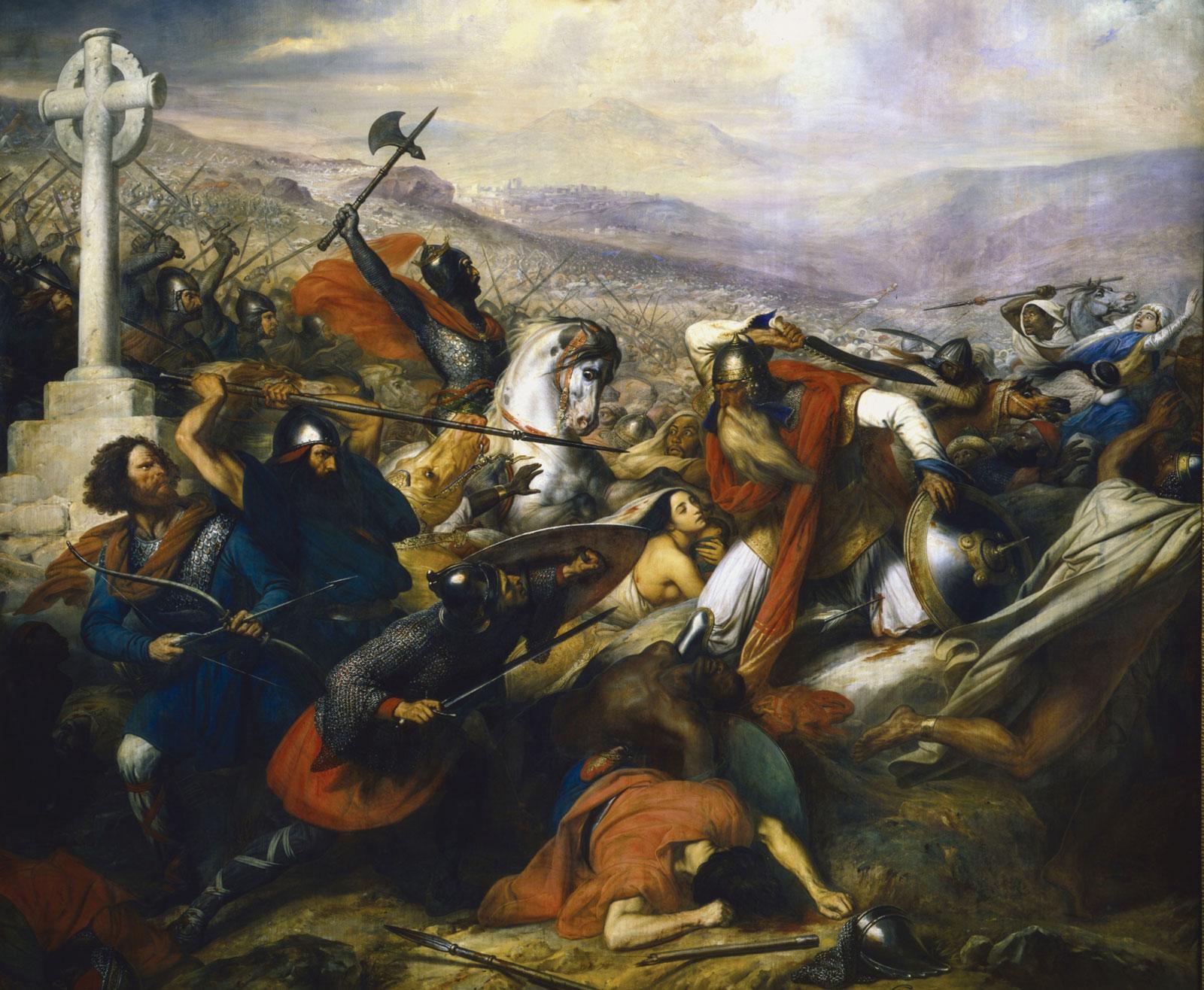 معركة بلاط الشهداء، مصدر الصورة: ويكيبيديا