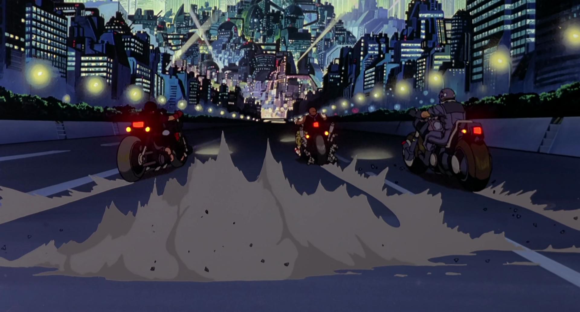 لقطة من فيلم الأنمي أكيرا