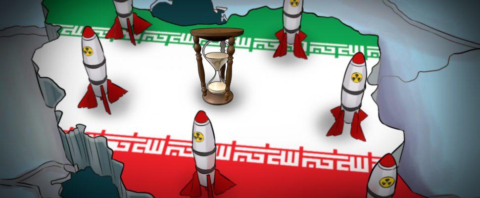 رسم: القنبلة النووية في إيران